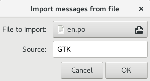 Messages import